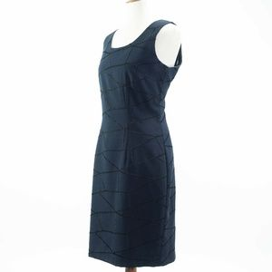 Leslie Lucks Deep Navy Blue Lined Sheath Dress